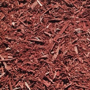 Double shredded red mulch